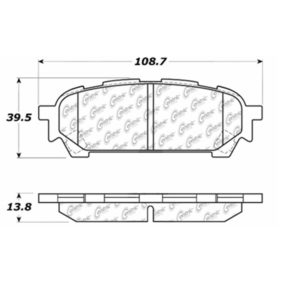Stop Tech / Power Slot 105.10040 Brake pad set