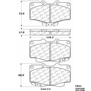 StopTech 306.08200 Brake Pad