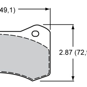Wilwood Brakes 150-9488K Brake pad set