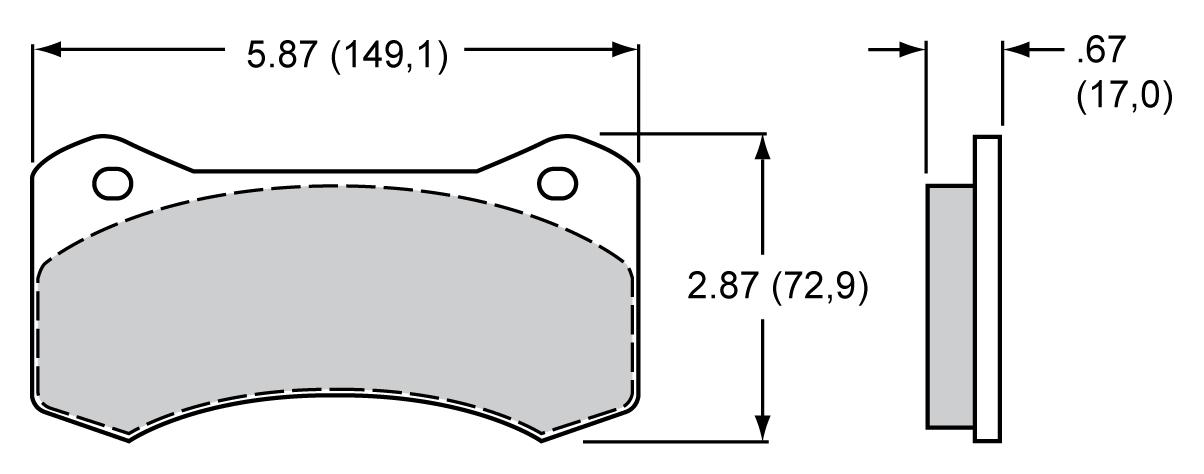 Wilwood 150-10006K Street Performance Racing Brake Pad Set BP-10 Compound Type