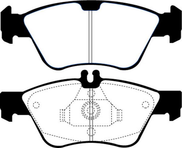 EBC Brakes DP21075 Brake pad set