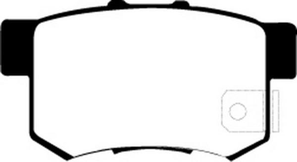 EBC Brakes DP21193 Brake pad set