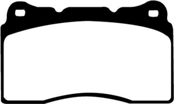 EBC Brakes DP21210 Brake pad set
