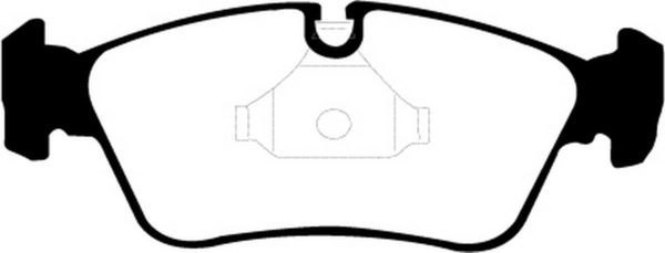 EBC Brakes DP21211 Brake pad set