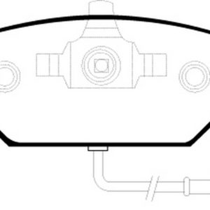 EBC Brakes DP21329 Brake pad set